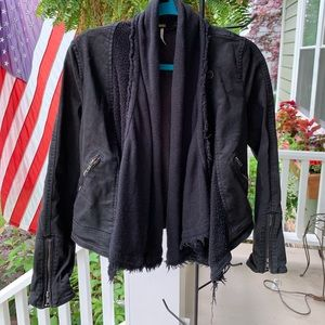 Free People Black Jean Jacket